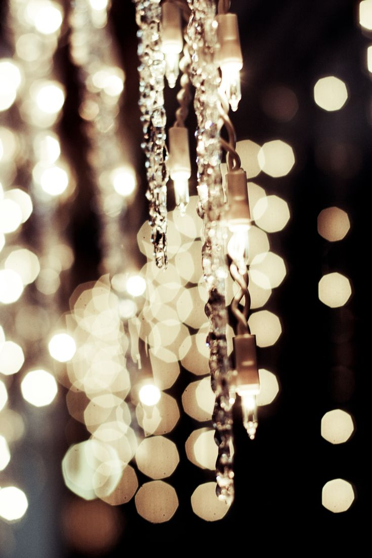 Interesting lighting idea... faux icicles strung with Christmas lights...