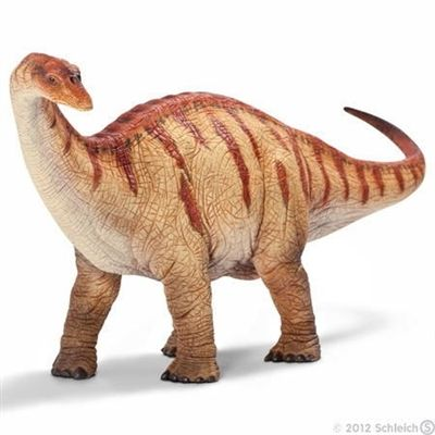 Schleich Dinosaur Apatosaurus -   31.5cm solid plastic toy dinosaur from Schleich, made to last and perfect as a collectable or a gift. The main materials used are a variety of plastics and a special softener specifically designed so that small parts cannot break and to ensure the figures are pleasant to the touch and not too hard.