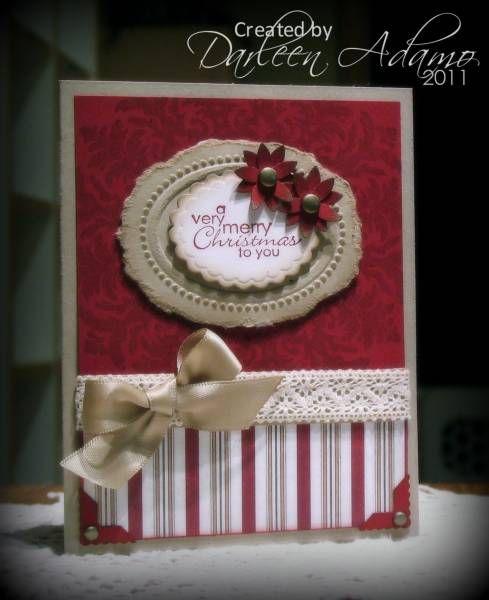 very elegant.: Christmas Cards, Card Idea, Scrapbook Christmas Card, Classy Christmas, Christmas Idea, Red Christmas, Paper Crafts, Christmas Cases, Merry Christmas