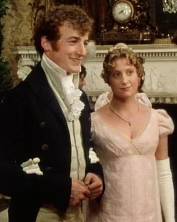 Crispin Bonham-Carter (Mr. Charles Bingley) & Susannah Harker (Jane Bennet) - Pride and Prejudice directed by Simon Langton (TV Mini-Series, BBC, 1995) Jane Austen