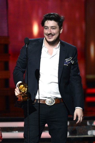 Marcus Mumford of Mumford & Sons accepts the Album of the Year award for Babel at the 55th Annual GRAMMY Awards on February 10, 2013 in Los Angeles, California.