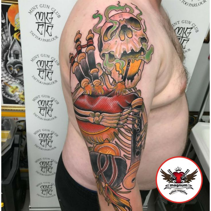 Tremendous tattoo done with #magnumtattoosupplies from Adam Link 👊🏻👊🏻👊🏻