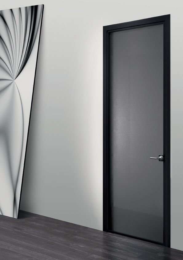 System of doors with frame made of a thin aluminium profile filled with a very wide & 21 best Luna . sistema di porte by Res images on Pinterest   Door ...