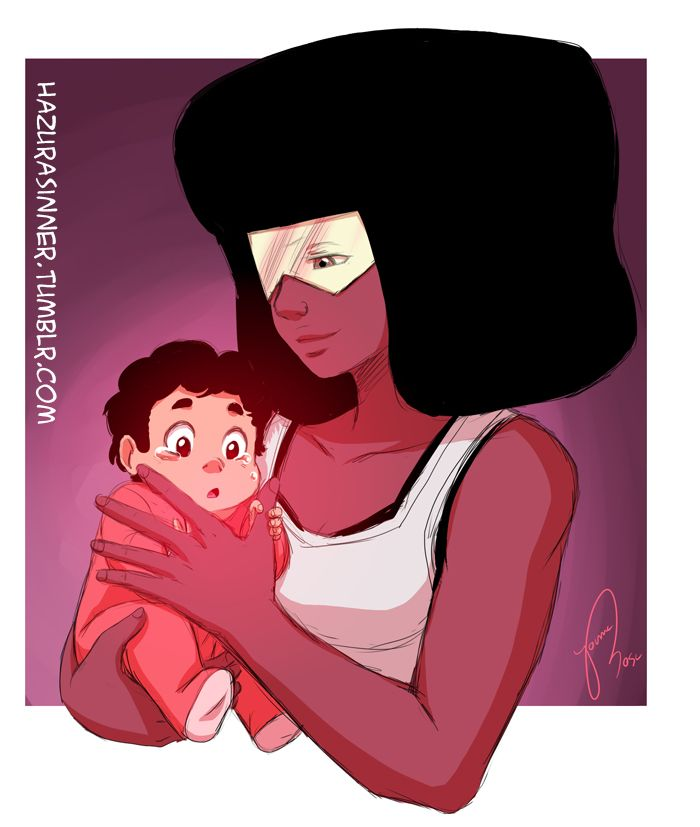 "OP: ""little Steven had a nightmare and Square Mom is calming him down"" 
