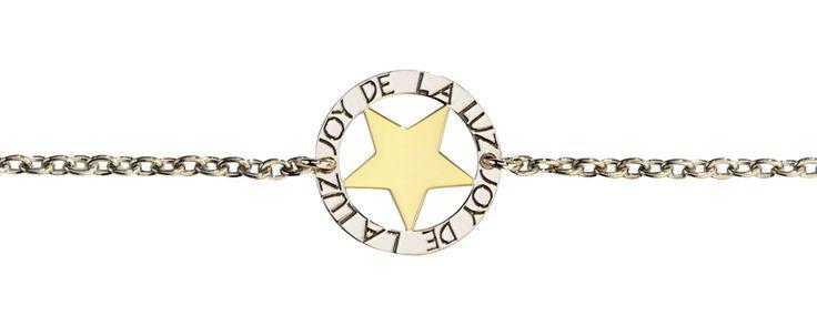 Joy de la Luz   Silver bracelet star gold  €39,95