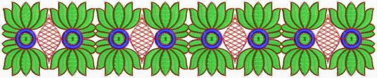 Groen en blou kleur blomme ontwerp Kant grens