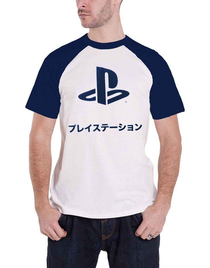 Playstation T Shirt Japanese classic Logo Mens White - Paradiso Clothing