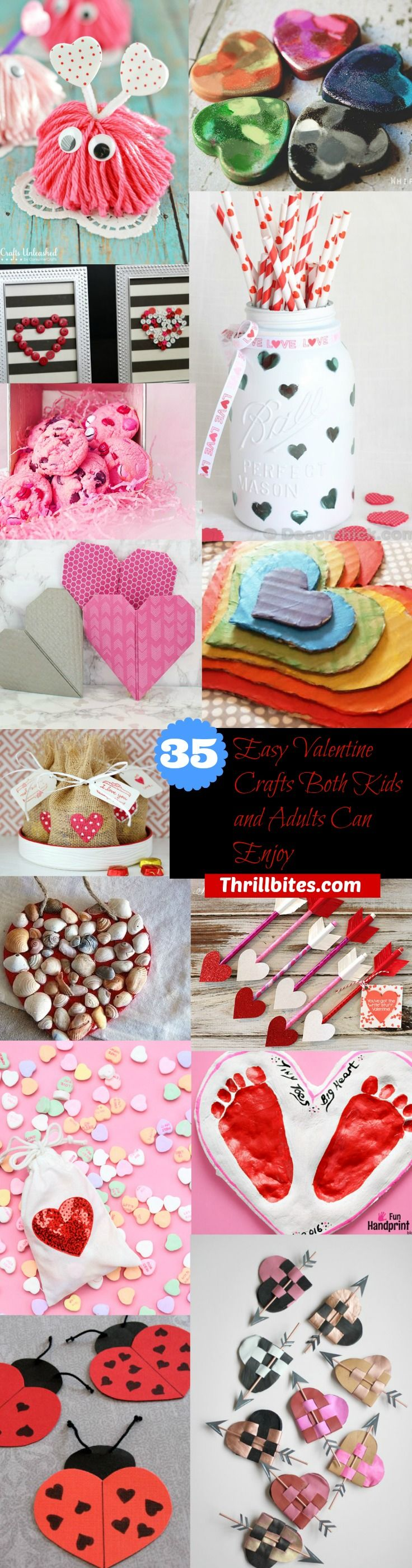 35 Easy Valentine Crafts Both Kids and Adults Can Enjoy | Valentine Crafts | Valentine Craft Ideas
