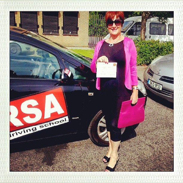 Congratulations Joan who after 3 failed attempts with other driving schools, passed her test today with the RSA Driving School. Amazing! Pass your test with http://www.rsadrivingschool.ie #rsadrivingschool #drivingtest #drivinglessonsdublin