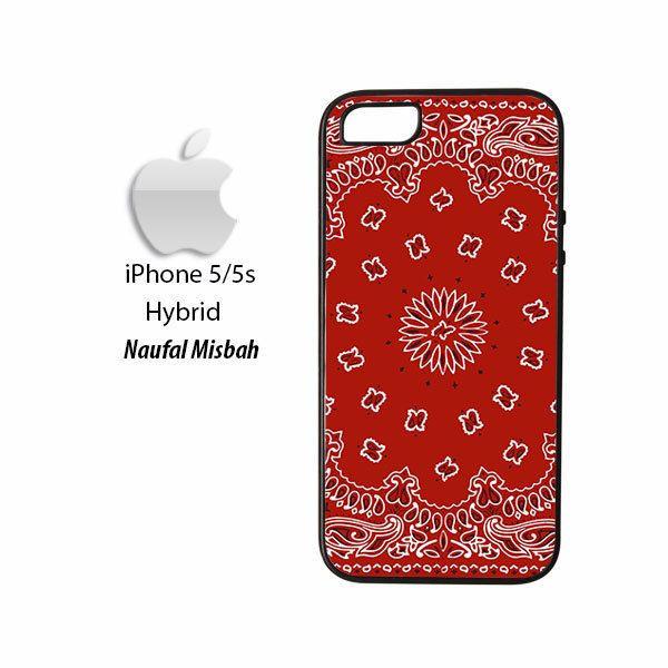 Bandana Red Print iPhone 5/5s HYBRID Case Cover