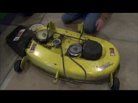 7 best john deere mower images on pinterest beauty products book how to remove a mower deck from a john deere 100 series 125 automatic youtube fandeluxe Image collections