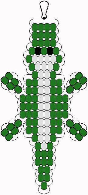 Alligator pony bead pattern:
