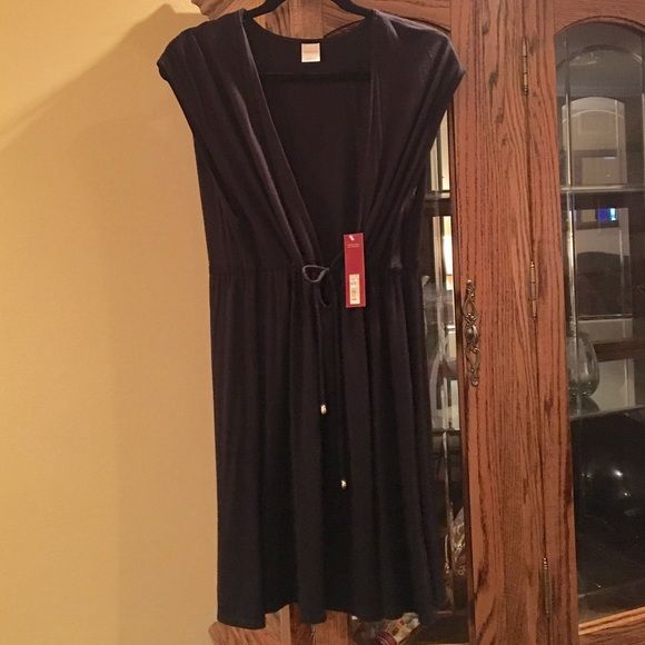 Knit, Swim Cover-Up  Cover up, brand new with tags, never been worn. Black, swim, cover up Merona Swim Coverups