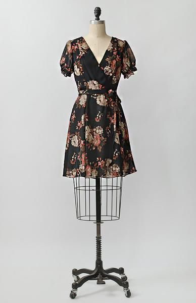 Vintage inspired autumn roses chiffon dress / Adored Vintage, Vintage and Vintage Inspired Clothing