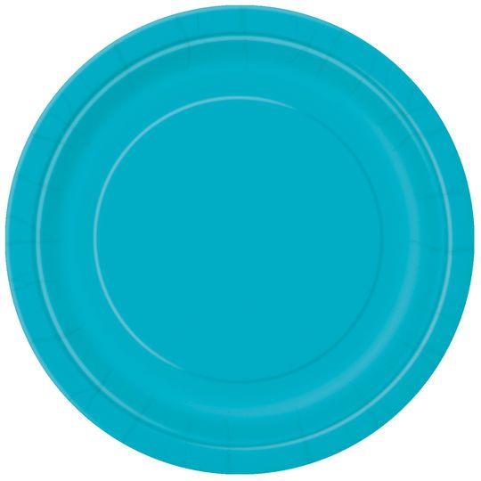 "9"" Teal Dinner Plates, 8ct"