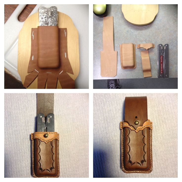 Leather knife sheath, multi-tool