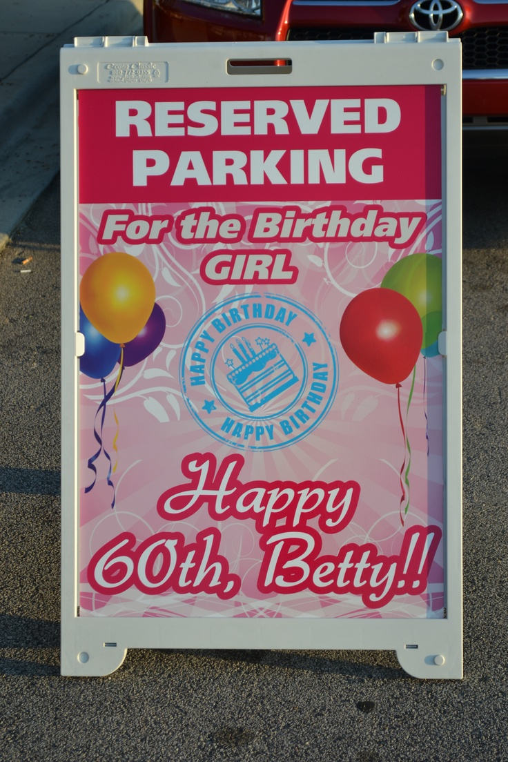 One of our artist's at work designed this sign for my Aunt's Surprise 60th Birthday Party