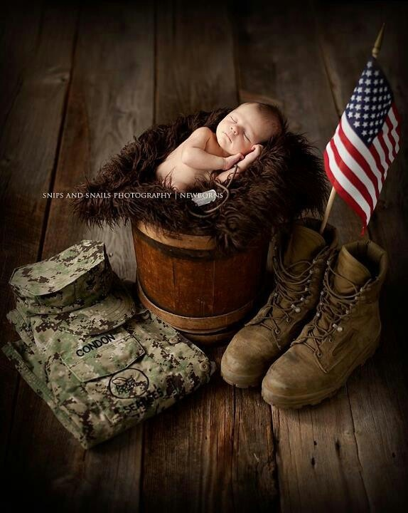 Military Baby ♥---love collecting these ADORBS photos :)