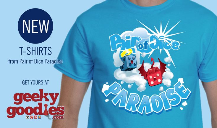 Have you seen the cool new shirts we have from Pair of Dice Paradise? Check 'em out at: www.geekygoodies…. #BoardGameTshirts #ChazMarler #PairOfDice…