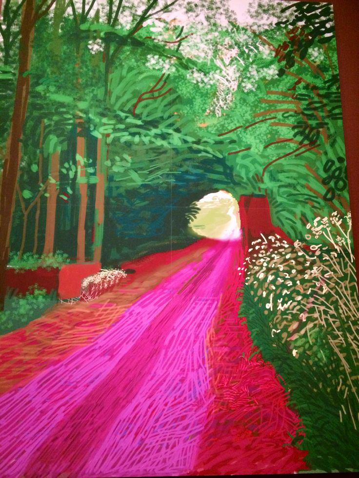 Hockney iPad drawing - great collection of Hockney inspriations! Thank you Joanna.