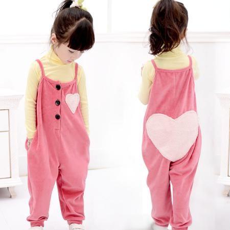 8713 свободные комбинезоны корейские девушки дети дети любят бархатный комбинезон комбинезон  — 951.17р.