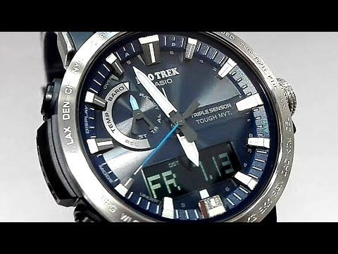 b83b5950990 Casio Pro Trek PRW-60-2A Triple sensor watch video 2018