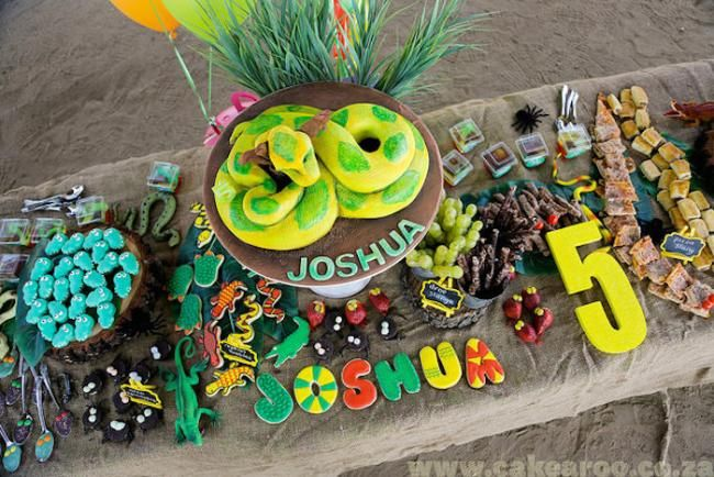 Boy's Snake and Reptile Themed Birthday Party Ideas
