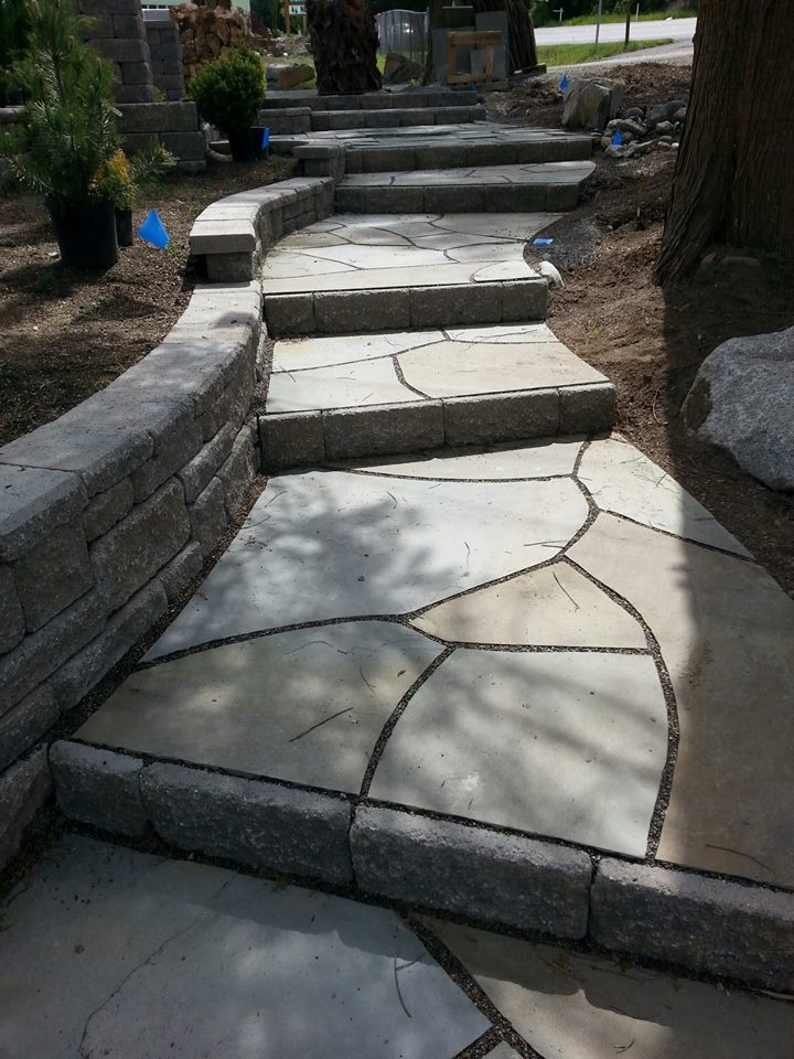unique flagstone steps garden stairs landscape stairs landscaping retaining walls