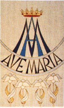 Marian symbol earrings AP07202 by Gwendysgems on Etsy