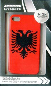National Flag Europe Adriatic Sea Country Republic of Albania for iPhone 4 / 4s Plastic Hard Case Normal Style Red