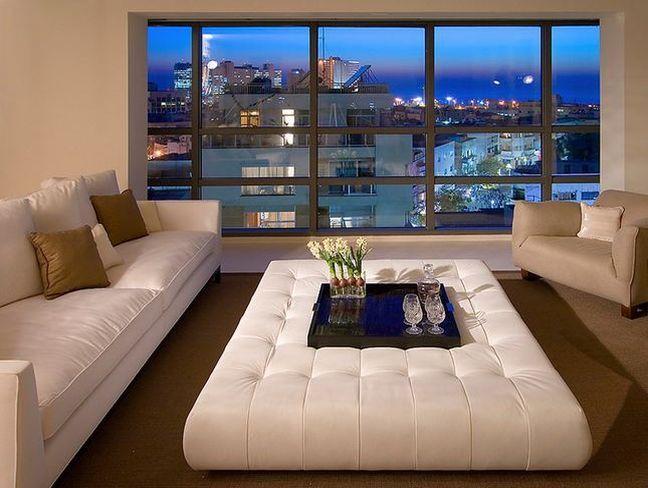 Best 25+ White leather ottoman ideas on Pinterest   Living room ...