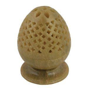 Support à bougies ?uf en pierre - Objet décoratif fait main: Amazon.fr: Cuisine & Maison