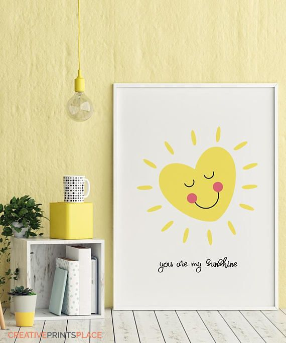 You Are My Sunshine Art Smiling Heart Dream Heart Art Heart