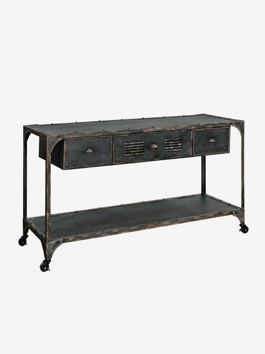 Loft Komoda z szufladą i półką