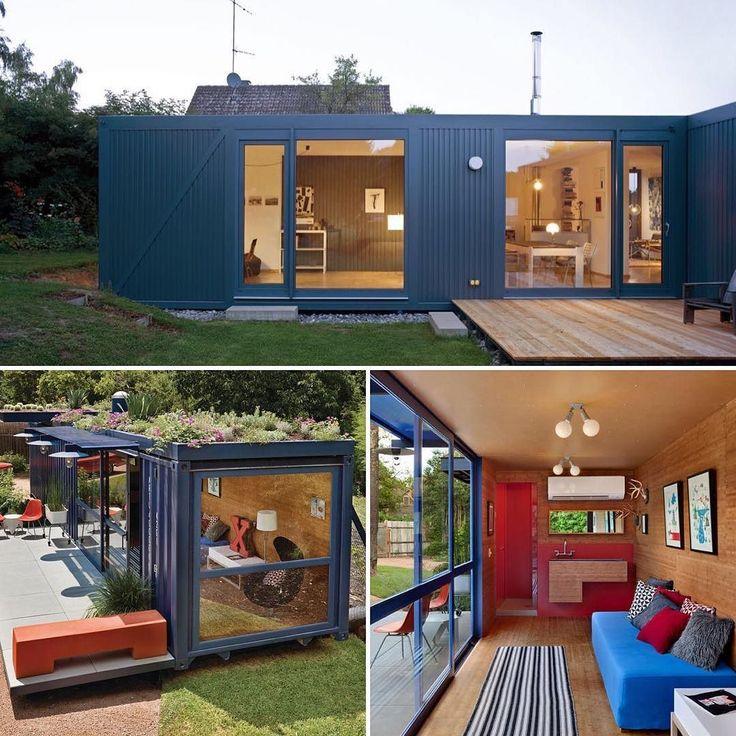 O arquiteto Jim Poteet ajudou o cliente Stacey Hill que vive em uma comunidade de artistas em San Antonio (Texas - EUA) a transformar uma caixa de aço o contêiner que mede aproximadamente 20 metros quadrados (20 x 100m) em uma casa de hóspedes para artistas visitantes. O arquiteto colocou portas e janelas de vidro do chão ao teto para melhor aproveitamento da luz solar e também implantou sistema de aquecimento e ar-condicionado. Para melhor conforto térmico o telhado verdinho que garante uma…