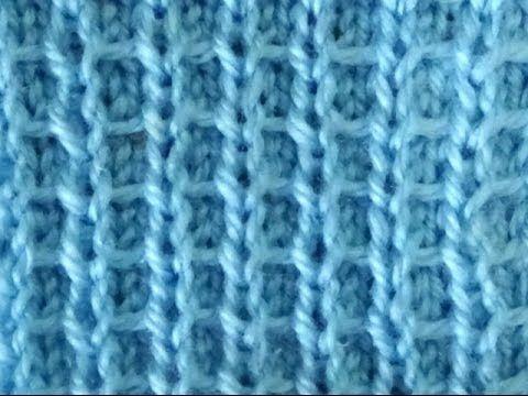 Cómo Tejer Punto Panal Diferente-Honeycomb Stitch 2 Agujas(340)