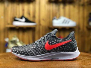 738be5966419e Mens Nike Air Zoom Pegasus 35 Sneakers Thunder Grey Phantom Oil Grey Bright  Crimson 942851 006