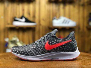 c12af7e3415f9 Mens Nike Air Zoom Pegasus 35 Sneakers Thunder Grey Phantom Oil Grey Bright  Crimson 942851 006
