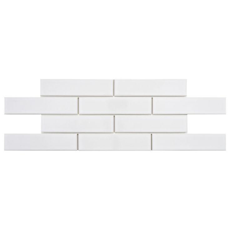 SomerTile Victorian Soho Subway White Porcelain Tiles (Case of 100)   Overstock.com