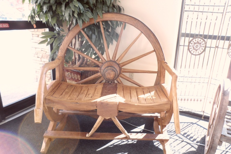 Wagon wheel bench at hobby lobby southern living for Kitchen 911 knoxville tn