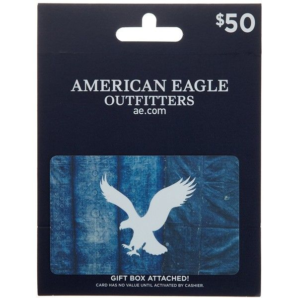 American Eagle Outfitters Gift Card ($125) ❤ liked on Polyvore featuring gift cards