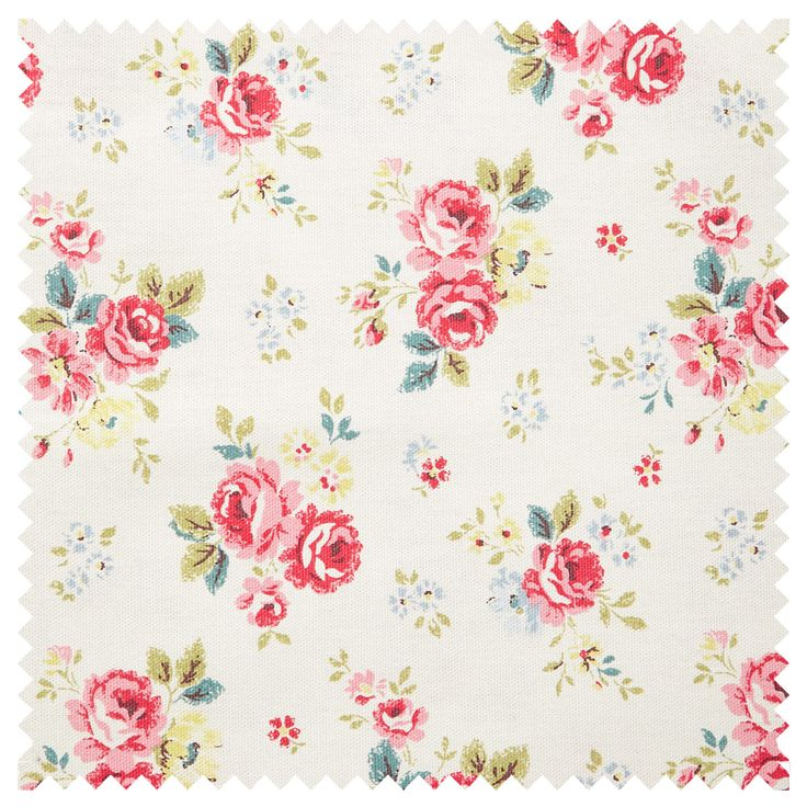 Cotton Fabric | Field Rose Cotton Duck | CathKidston (round cushions for metal stools~under painted console).