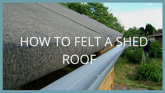 Share this post:0000Adding roofing felt to a shed is an important part of protecting the shed from harsh weather and making sure it looks great all year round. It may seem like a tedious task but felting a shed roof ...