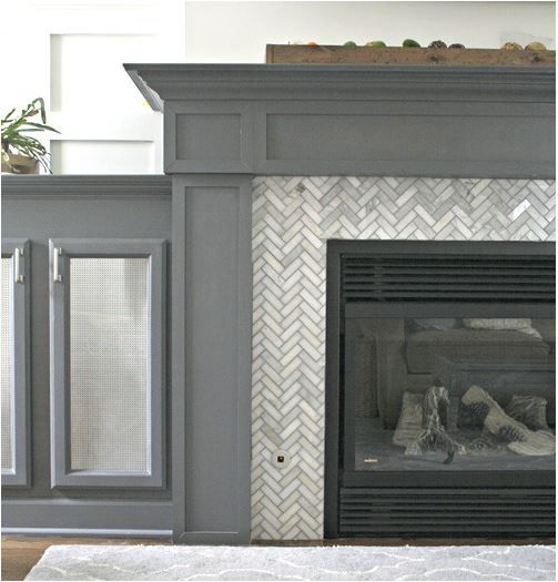 DIY:  How To Tile and Grout a Fireplace Surround