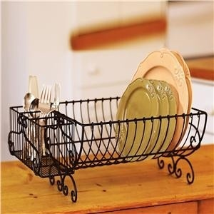 Dish Drying Rack Scrolled Dish Drying Rack and Caddy Air-dry dishes like they do within of the sunny Mediterranean...in a dish drying rack! Compact, however roomy adequate to manage dinnerware for just about any par
