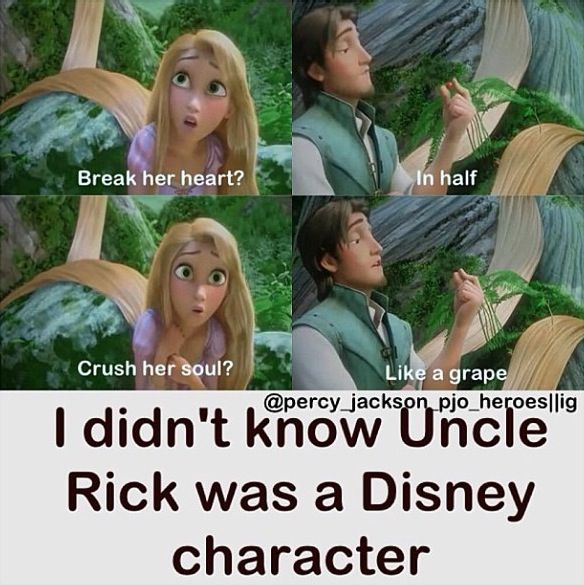 Rick (Flynn) is explaining to your best friend (Rapunzel btw is not in the fandom) what happened to you and what happened in the book that made you so depressed.