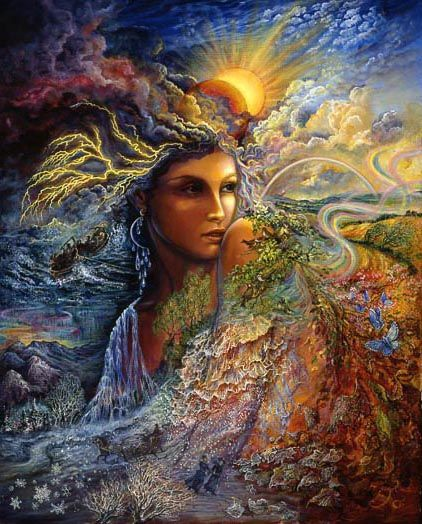 Spirit of the Elements   The powerful spirit rises up to fill our lives with all the elements we need to complete the cycle of nature. Raging seas challenge our courage to the limits, teaching us the skills and strength we will need to endure the storms and darkness ahead.