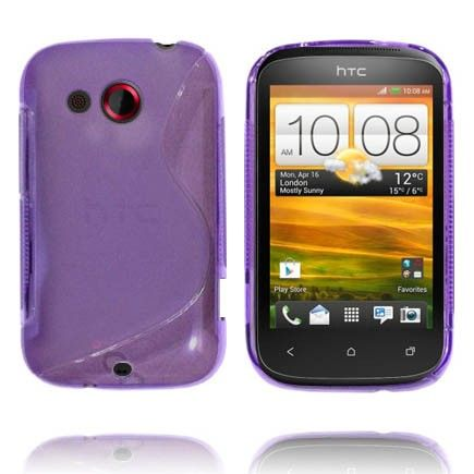 Transparent S-Line (Lilla) HTC Desire C Cover