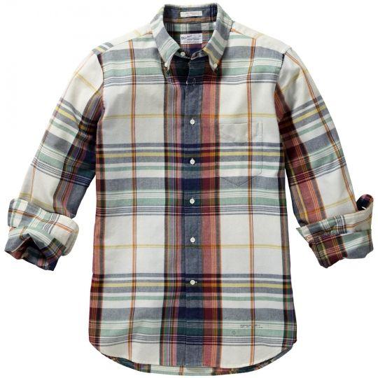 Indigo Oxford Plaid Hugger Fit Shirt By GANT
