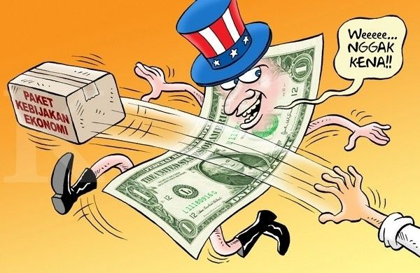 Kartun Benny, Kontan - September 2015: Paket Untuk Menekan Dollar